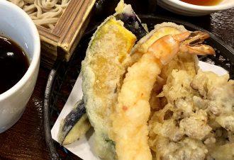 秋の天ぷら蕎麦 950円
