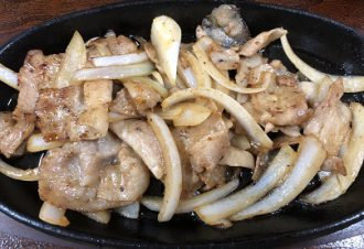 鉄板生姜焼き定食 850円