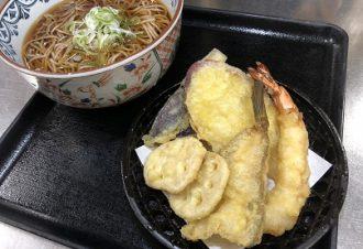 冬の天ぷらそば 温・冷 950円