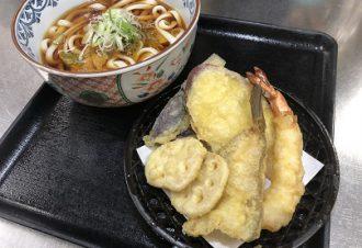 冬の天ぷらうどん 温・冷 950円