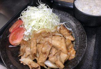 豚バラ焼き定食 780円