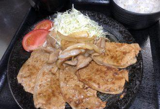 生姜焼き定食 780円